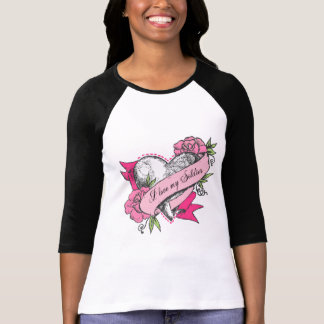 I love my Soldier - Heart & Roses Tees