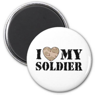 I Love My Soldier Magnets