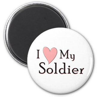 I Love My Soldier 2 Inch Round Magnet
