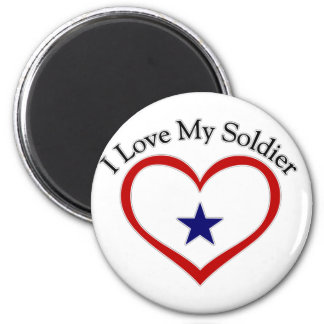 I Love My Soldier Refrigerator Magnets