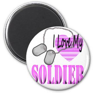 I love my soldier fridge magnet