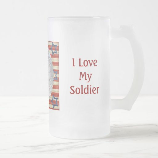 """I Love My Soldier"" Mug"