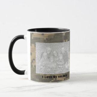 I Love My Soldier Photo Camouflage Mug