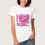 I Love My Soldier pink/purple - heart Tee Shirt
