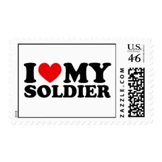 I Love My Soldier Stamp
