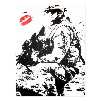 I love my soldier! postcard