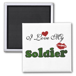 I Love My Soldier Tshirts and Gifts Magnets