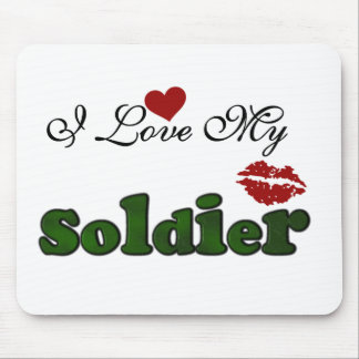 I Love My Soldier Tshirts and Gifts Mouse Pad
