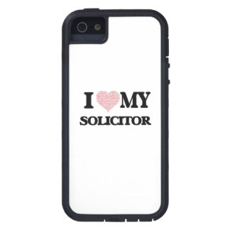 I love my Solicitor (Heart Made from Words) iPhone 5 Covers