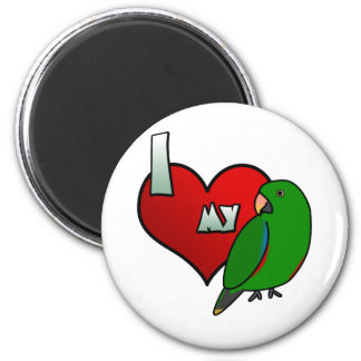 I Love my Solomon Islands Eclectus 2 Inch Round Magnet