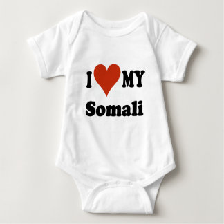 I Love My Somali Cat Merchandise Baby Bodysuit