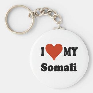 I Love My Somali Cat Merchandise Keychain