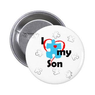 I Love My Son  - Autism 2 Inch Round Button