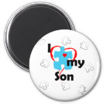 I Love My Son  - Autism 2 Inch Round Magnet