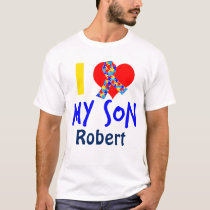 I Love My Son Autism Awareness Ribbon T-Shirt