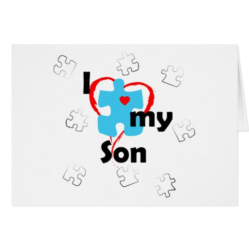 I Love My Son  - Autism Cards