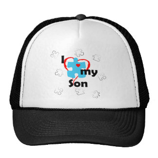 I Love My Son  - Autism Trucker Hat