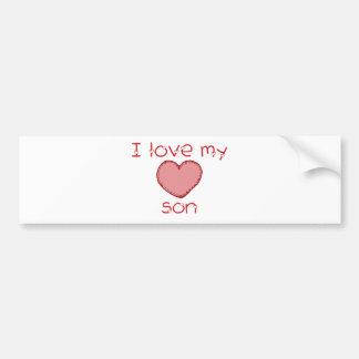 I love my son car bumper sticker