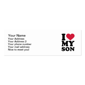 I love my son Double-Sided mini business cards (Pack of 20)