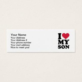 I love my son mini business card