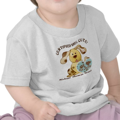I Love my Son, Personalized Baby Tee Shirt