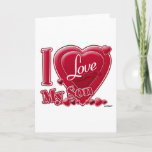 """I Love My Son red - heart Holiday Card<br><div class=""""desc"""">I Love My Son red - heart</div>"""