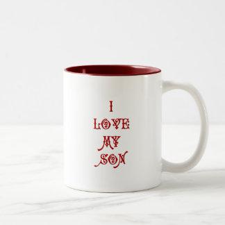 I love My Son Two-Tone Coffee Mug