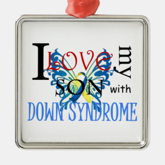 I Love My Son with Down Syndrome Metal Ornament
