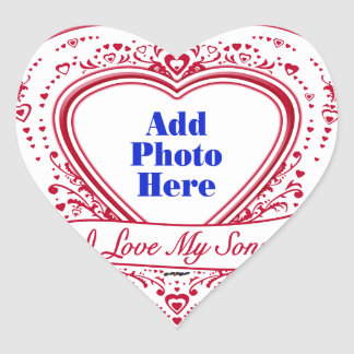 I Love My Sons! Photo Red Hearts Heart Sticker
