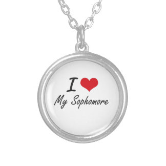 I love My Sophomore Round Pendant Necklace