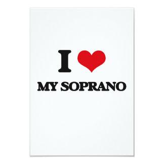 I love My Soprano 3.5x5 Paper Invitation Card