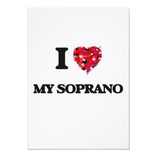 I love My Soprano 5x7 Paper Invitation Card