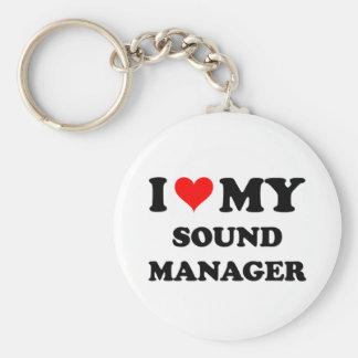I Love My Sound Manager Keychains