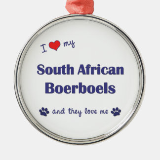 I Love My South African Boerboels (Multiple Dogs) Christmas Tree Ornaments