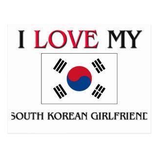 I Love My South Korean Girlfriend Postcard