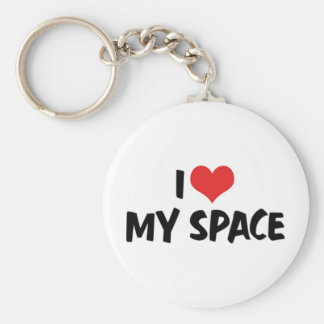 I Love My Space Keychain