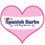 I Love My Spanish Barbs (Multiple Horses) Cut Out