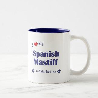 I Love My Spanish Mastiff (Female Dog) Two-Tone Coffee Mug