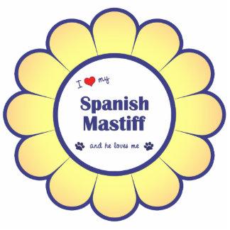 I Love My Spanish Mastiff (Male Dog) Photo Cutout