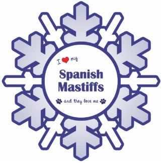 I Love My Spanish Mastiffs (Multiple Dogs) Photo Sculpture Ornament