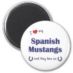 I Love My Spanish Mustangs (Multiple Horses) Magnets