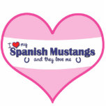 I Love My Spanish Mustangs (Multiple Horses) Acrylic Cut Outs