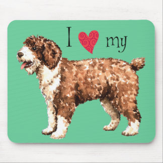 I Love my Spanish Water Dog Mouse Pad