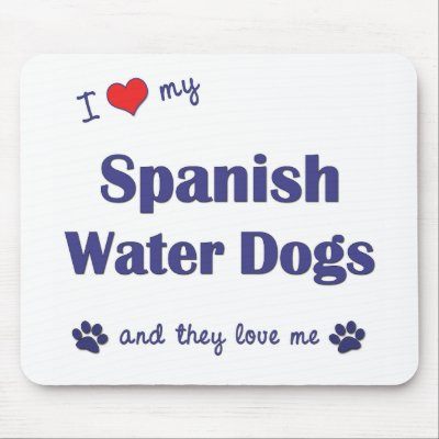 i love my spanish water dogs multiple dogs mouse mats from zazzle love in spanish 400x400