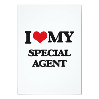 I love my Special Agent 5x7 Paper Invitation Card