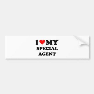 I Love My Special Agent Car Bumper Sticker