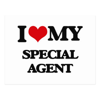 I love my Special Agent Postcard