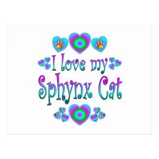 I Love My Sphynx Cat Postcard
