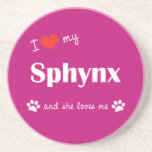 I Love My Sphynx (Female Cat) Coaster
