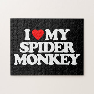 I LOVE MY SPIDER MONKEY JIGSAW PUZZLE